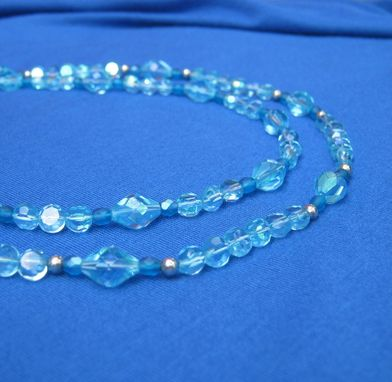 Custom Made Crystal Blue Double Necklace