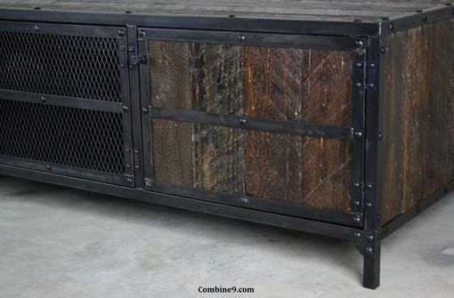 Custom Made Rustic Media Console/Credenza Vintage Industrial, Mid Century Modern, Reclaimed Wood