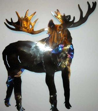 Custom Made Moose Metal Wall Art