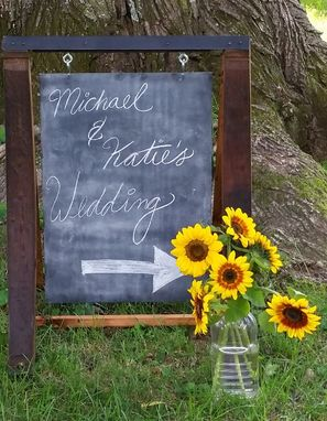 Custom Made Menu Board / Weddings Signs From Reclaimed Wine Barrel Staves