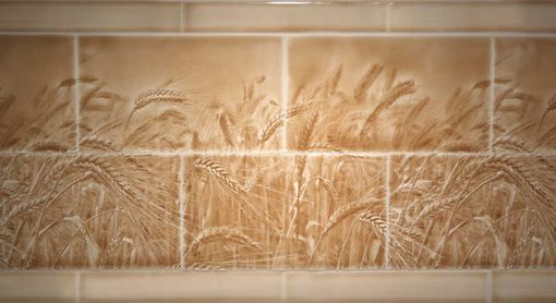 Custom Made Amber Waves Kitchen Backsplash