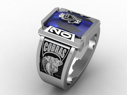 Custom Made Class Ring With Sapphire