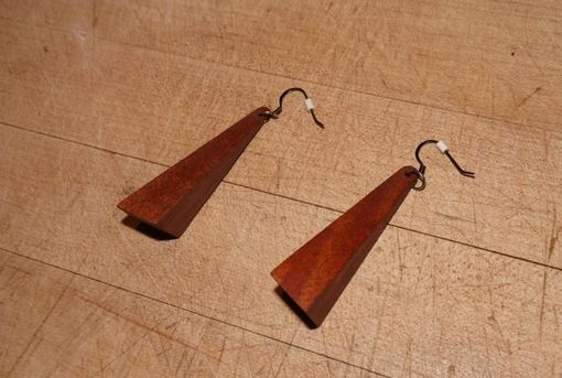 Custom Made Exotic Wood Earrings