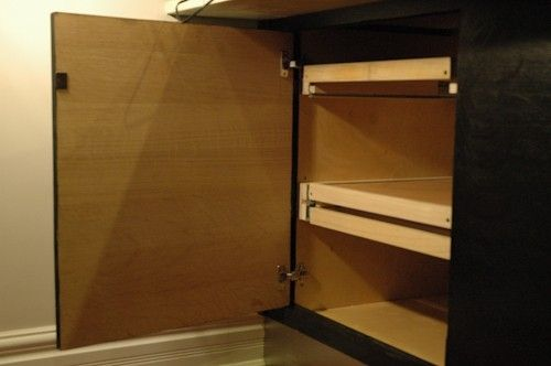 Custom Made Secret Door-Dead Cabinet Space Repurposing