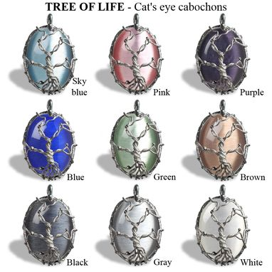 Custom Made Big Silver Tree Of Life Pendant Necklace - Fused Branches On Textured Frame – Cat Eye