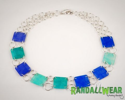 Custom Made Lightweight Shrinkable Plastic And Sterling Silver Necklace
