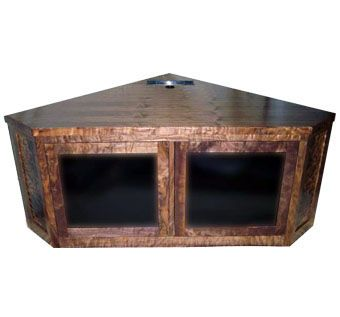 Custom Made Walnut Corner Entertainment Unit
