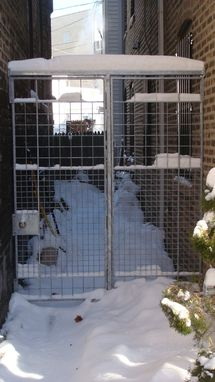Custom Galvanized Steel Gates By Andrew Stansell Design