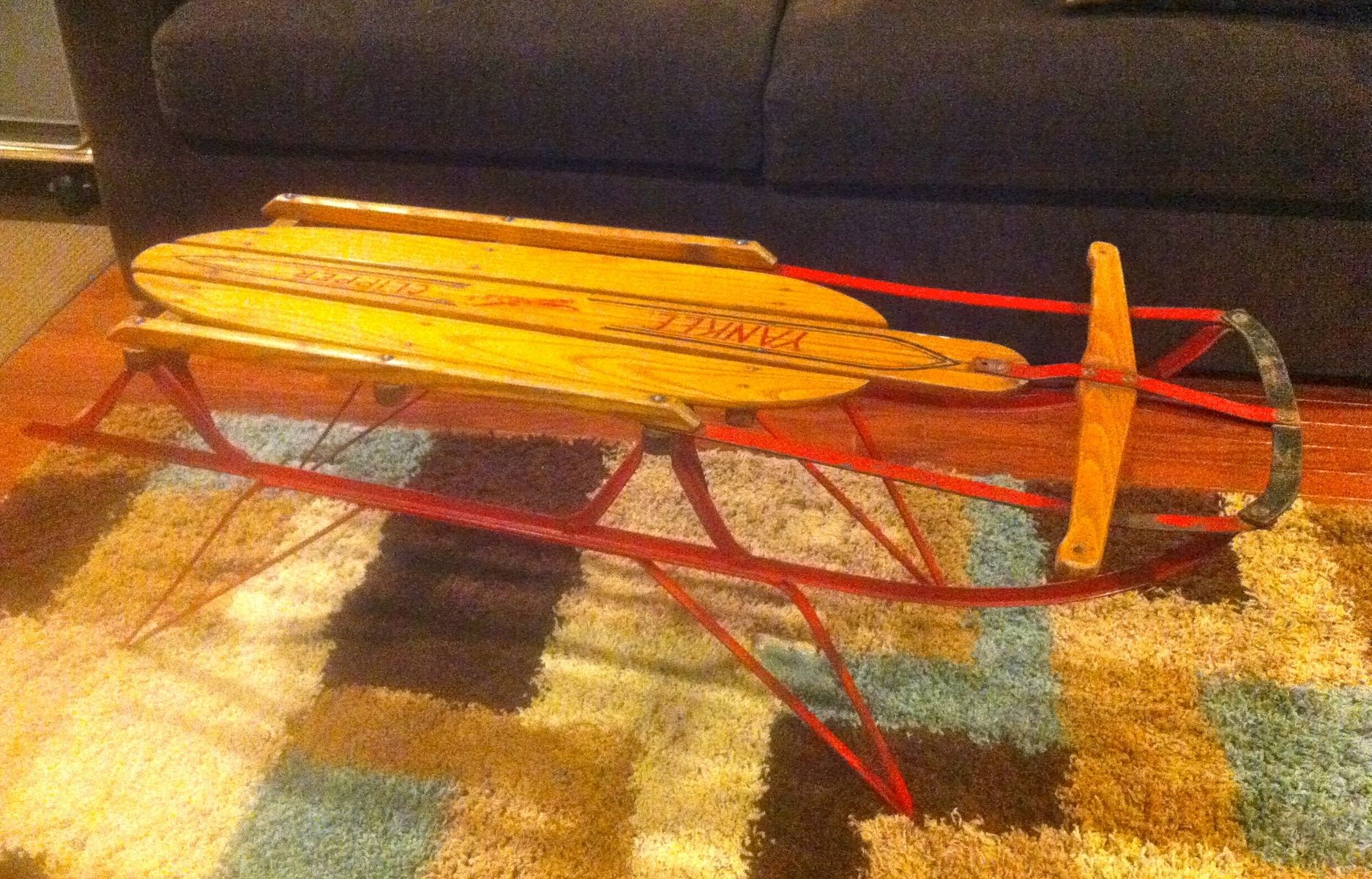 Hand made coffee table sled by endless design custommade custom made coffee table sled geotapseo Images