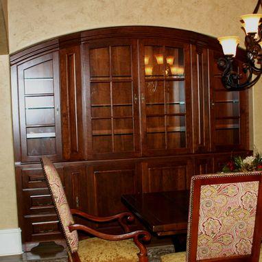 Custom Cherry Dining Room China Cabinet By Carolina Wood