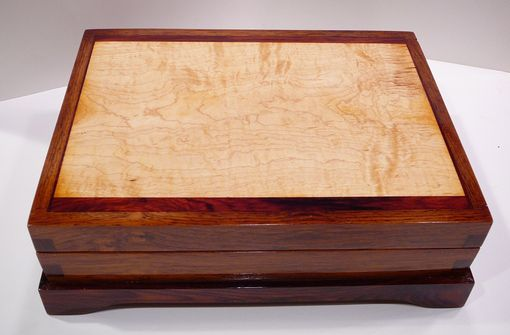 Hand Made Exotic Wood Box By Handmade Wood Gifts