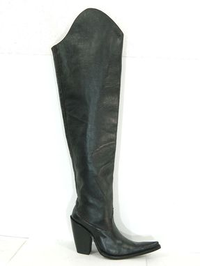 Custom Made Two Hieght Top Boots Extreme Sharp Toe And 5 Inch Heels Made To Order Men Or Woman