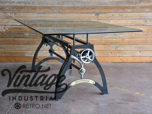 Custom Made The Industrialux Crank Table