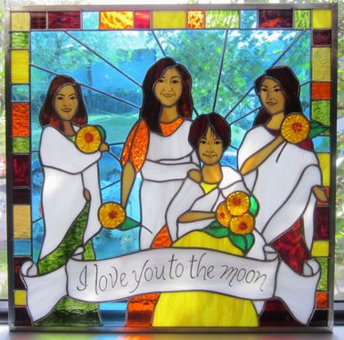 Custom Made Stained Glass Family Portrait