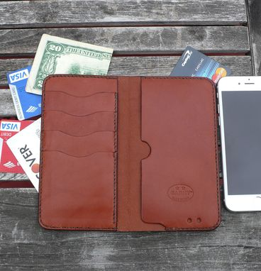 Custom Made Garny - Iphone 6 - Leather Wallet №75 - Chestnut Brown