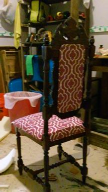 Custom Made Repaired And Reupholstered Chair