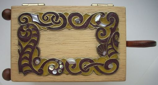 Custom Made Wooden Inlaid Jewelry Box <Ancient Ship>