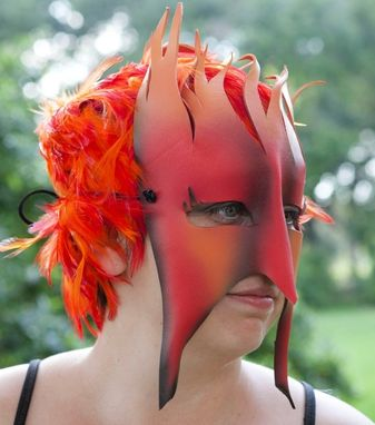 Custom Made Fire - Leather Masquerade Mask