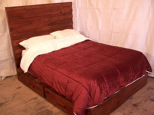 Custom Made Four Drawer Modern Platform Bed