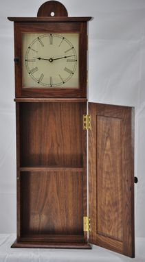 Custom Made Shaker Wall Clock In Figured Walnut