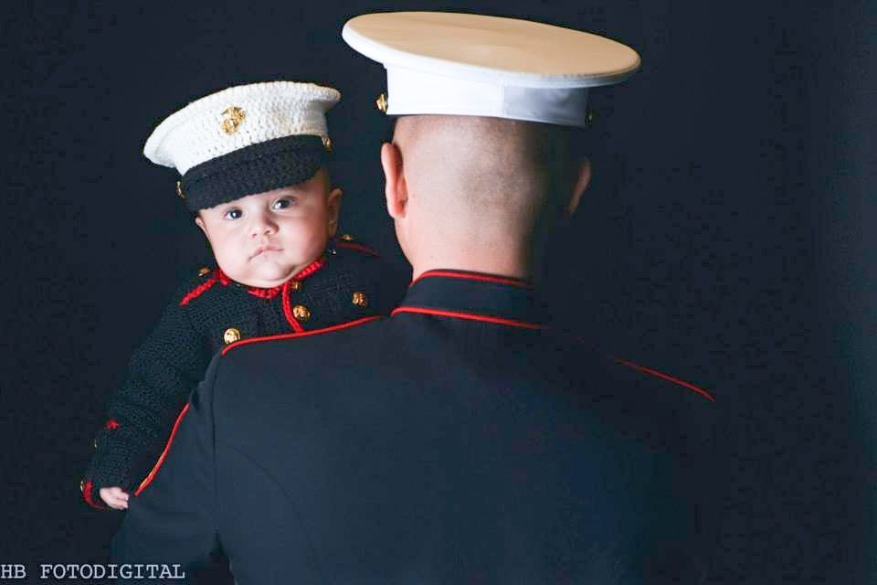 Hand Made Marine Corps - Usmc - Marine Corps Baby - Usmc Marine