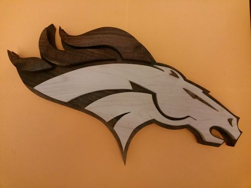 Custom Made Denver Bronco  Logo (Orange Back Ground)