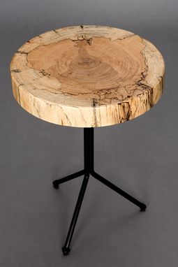 Custom Made Spalted Maple End Table