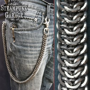 Custom Made Wallet Chain - Extreme Heavy Duty - Square Wire Stainless Steel