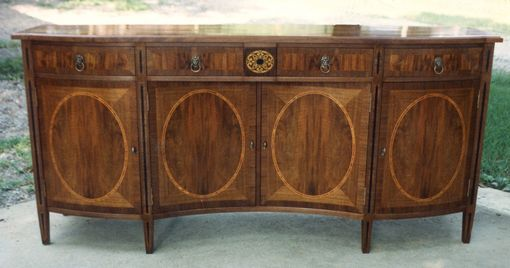 Custom Made Sideboard In French Walnut  & Multible Inlays