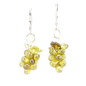 Custom Made Peridot Crystal Fashion Earrings, Ladies Earrings, Fashion Earrings
