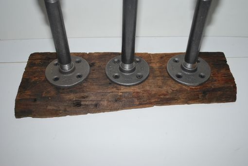 Custom Made Rustic Barnwood Triple Candle Holder
