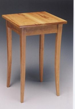 Custom Made Cherry Occasional Table With Curved Legs.