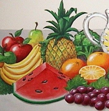 Custom Made Painted Fruit Panels