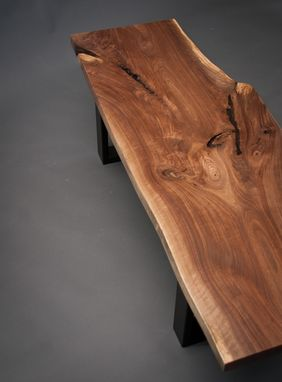 Custom Made Live Edge Black Walnut Wood Coffee Table