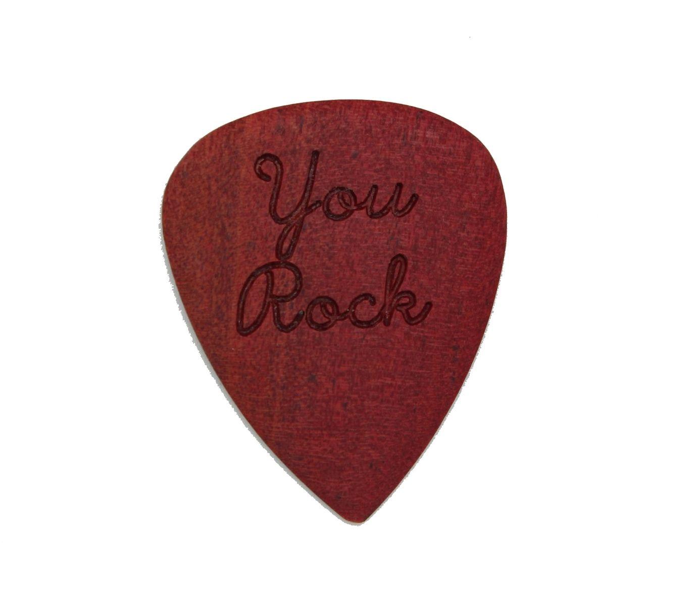 Hand Made Engraved Wood Guitar Picks, Custom, Musician Gift ...