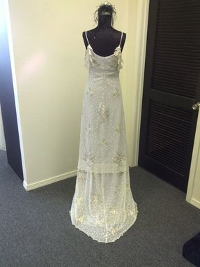 Custom Made Purple Floral Lace Wedding Dress