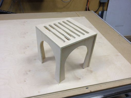 Custom Made Block Stool