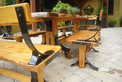 Hand Crafted Live Edge Industrial Farmhouse Table With