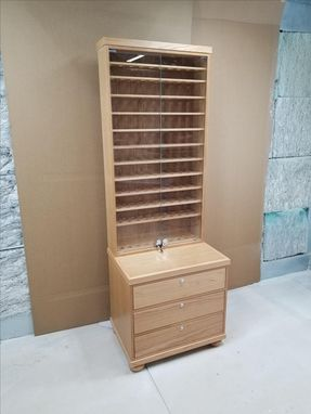 Custom Made Pipe Smoking Display Cabinet