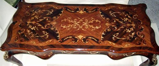 Custom Made Louis Xv Marquetry Desk