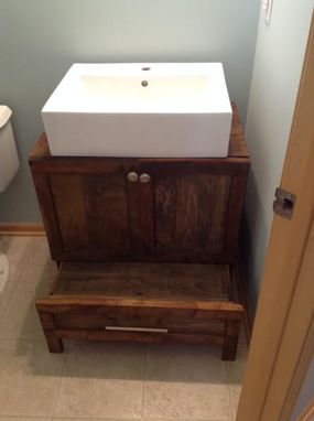 Custom Made Reclaimed Vanity