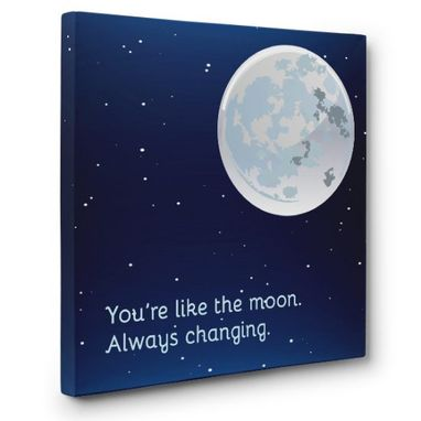 Custom Made Moon Canvas Wall Art