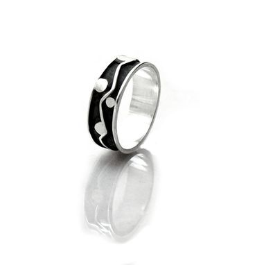 Custom Made Masculine Mans Ring - Organic Band -Size 10.5 Ring