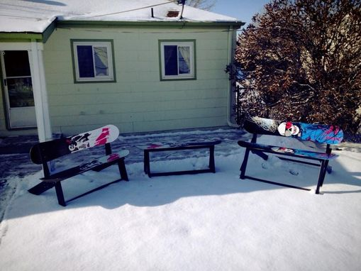 Custom Made Snowboard Benches For Inside Or Out