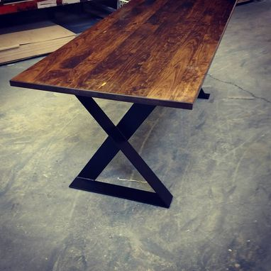 Custom Made Modern X Frame Style Dining Table