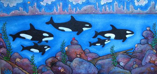 Custom Made Pod Of Orca Painting