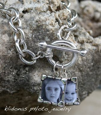 Custom Made Silver Tiffany Style Photo Charm Bracelet