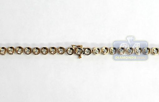 Custom Made 14k Rose Gold 13.00 Ct Bezel Diamond Link Mens Chain 5 Mm 30 Inches