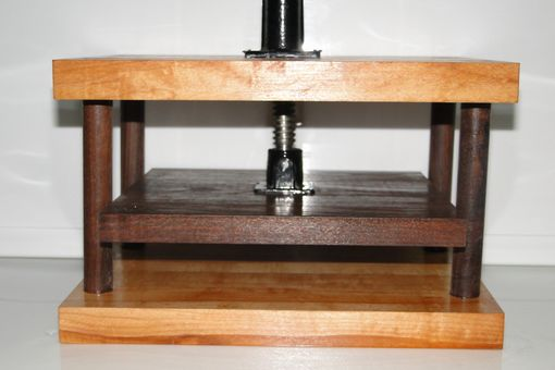 Custom Made Solid Maple And Walnut Wooden Book Press