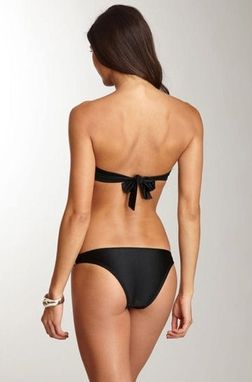 Custom Made St- Tropez Black Trikini- Hand Made Monokini- One Piece Swimsuit